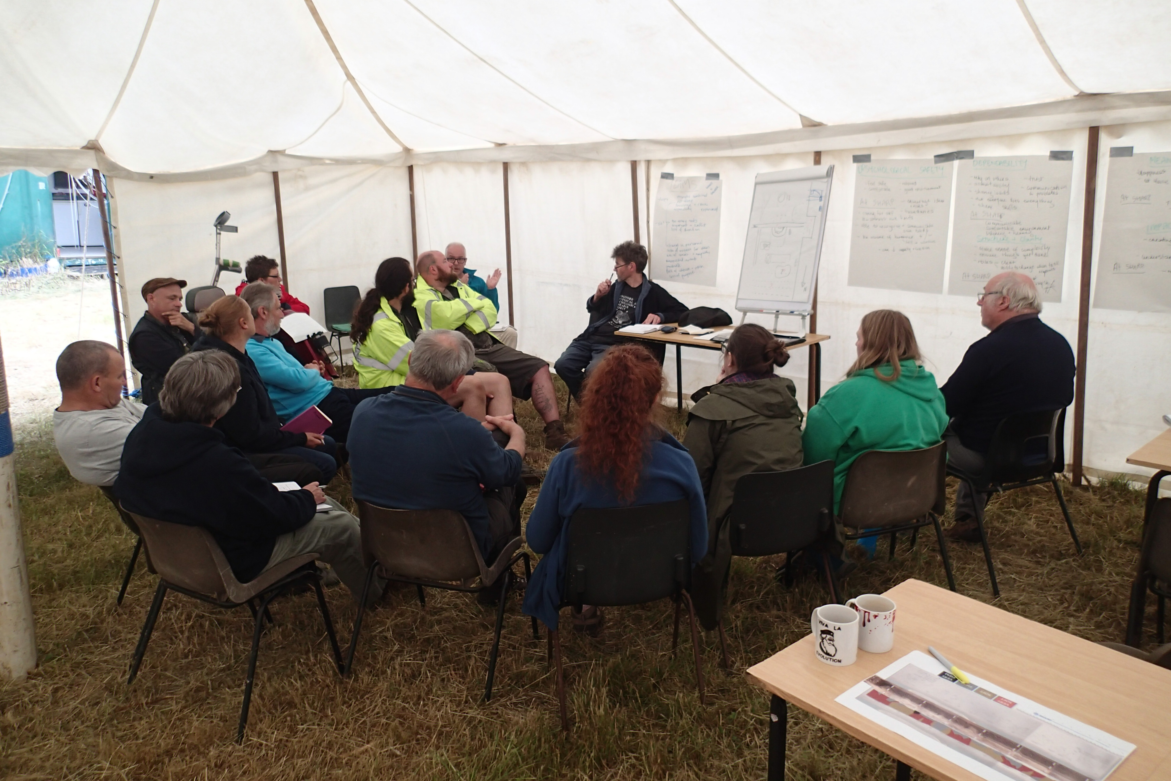 Friday: the Trench 23 (T23) team meet