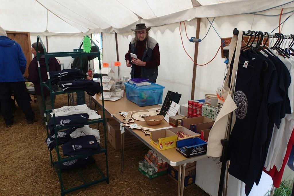 Terry prepares his merchandise